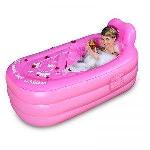 HTZ Baignoire Gonflable Baignoire Pliante pour Adulte Baignoire Baignoire pour Enfants (Rose, 150cm * 80cm * 70cm) + (Taille : 130x80x70) de la marque Bathtub PHTW image 0 produit