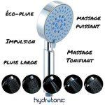 HydroTonic Pommeau de douche 5 fonctions - Avec jets de massage et de relaxation - Fonction «éco-pluie» pour économie d'eau - Anti calcaire - Universel de la marque FireWolfTech image 4 produit