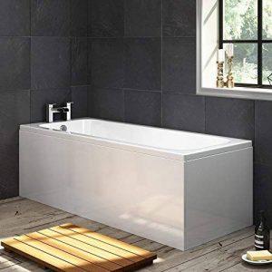 iBathUK BL134 Baignoire rectangulaire moderne avec robinet d'un côté + tablier Blanc 1700 mm de la marque iBathUK image 0 produit