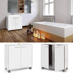 IDMarket - Meuble sous lavabo blanc pour vasque de salle de bain de la marque IDMarket image 0 produit