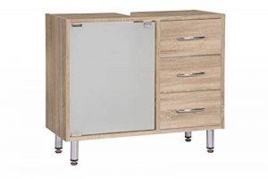 Inter Trade 1529 meuble sous-lavabo 3 Tiroirs 1 Porte Vitrée Bois Chêne Sonoma 66,5 x 29,5 x 57,5 cm de la marque Inter Trade Corporation image 0 produit