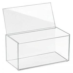 InterDesign 39650EU Clarity Vanity Boîte de Rangement avec Grand Couvercle Transparent 10 cm de Hauteur de la marque InterDesign image 0 produit