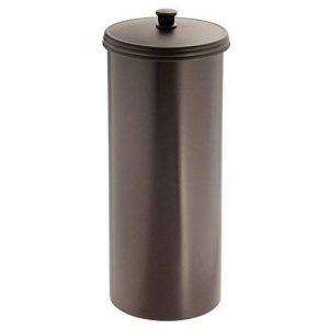 InterDesign Kent dérouleur papier WC avec couvercle, porte papier toilette autoportant en plastique au design compact, couleur bronze de la marque InterDesign image 0 produit