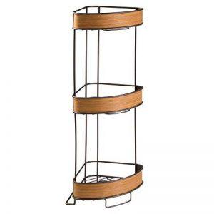 InterDesign RealWood étagère originale de salle de bain, étagère sur pied compact en métal avec des accents en bois, couleur bronze/teak de la marque InterDesign image 0 produit