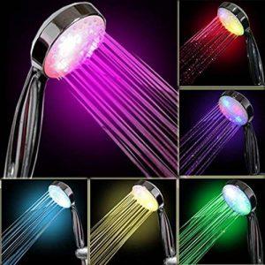 InteTech lumière LED Douche, 7Couleurs, Multicolores, Ajustement Universel de la marque InteTech image 0 produit