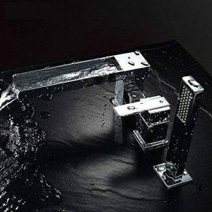 Jiuzhuo 3trous robinet mélangeur de baignoire en finition chrome de la marque JiuZhuo image 0 produit