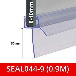 Joint de douche pour les écrans, portes ou Panneaux | Compatible avec 8, 9ou 10mm en verre | forme droite fin | joints des espaces jusqu'à 35mm | 80cm, 90cm, 140cm ou 2m de long | Seal044 de la marque Shower Seal UK image 0 produit