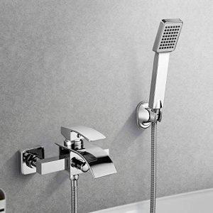 KINSE Design Salle de bains monté mur de robinet de baignoire cascade avec douche à main de la marque KINSE image 0 produit