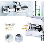 KINSE Design Salle de bains monté mur de robinet de baignoire cascade avec douche à main de la marque KINSE image 3 produit