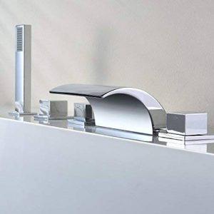 kinse Système de douche mitigeur pour baignoire robinet de baignoire contemporaine 5trous cascade baignoire robinet douchette pour salle de bain salle de bain de la marque KINSE image 0 produit