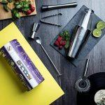 KOOLTHO Kit Cocktail Shaker Boston, Inox et Verre, Doseur Alcool et Accessoires Cocktail | Set Cocktail Professionnel dans un Coffret Cadeau Premium | Jouez-la Pro! de la marque KOOLTHO image 1 produit