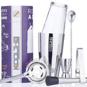 KOOLTHO Kit Cocktail Shaker Boston, Inox et Verre, Doseur Alcool et Accessoires Cocktail | Set Cocktail Professionnel dans un Coffret Cadeau Premium | Jouez-la Pro! de la marque KOOLTHO image 0 produit