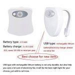 Lampe de Toilette Veilleuse LED à Détecteur de Mouvements Avec USB Charge et 2 Modes d'éclairage Couleur Fixe ou en 8 Couleurs Défilement) pour WC Cuvette Siège de NORDSD de la marque NORDSD image 3 produit