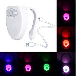 Lampe de Toilette Veilleuse LED à Détecteur de Mouvements Avec USB Charge et 2 Modes d'éclairage Couleur Fixe ou en 8 Couleurs Défilement) pour WC Cuvette Siège de NORDSD de la marque NORDSD image 0 produit