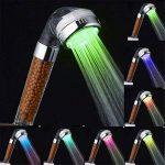 LESOLEIL Pommeau De Douche Douchette Filtration LED Spa Changement multicolore Avec Tuyau de la marque LESOLEIL image 3 produit