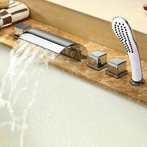 Lot de 5accessoires pour baignoire - Mitigeur cascade - Robinets - Douchette - Chromés de la marque ASD image 0 produit