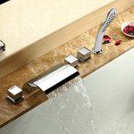 Lot de 5accessoires pour baignoire - Mitigeur cascade - Robinets - Douchette - Chromés de la marque ASD image 2 produit
