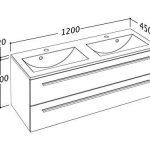 Meuble Bas pour Plan Vasque 120 cm de Large Meubles de Salle de Bain Sieper - fabriqués en Allemagne - déjà pré-assemblés (120, Anthracite) de la marque Sieper Badmöbel image 2 produit