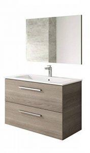 Meuble de salle de bain avec 2tiroirs et miroir Aruba de la marque Muebles Place image 0 produit