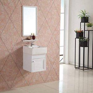 Meuble de salle de bain de modèle de nuage en 40x38.5x38.5cm avec le miroir, le lavabo, le robinetterie et le siphon de la marque AICA image 0 produit