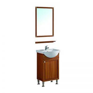 Meuble de salle de bain en 78x30.1x43.5cm avec le miroir, le lavabo, le robinetterie et le siphon de la marque AICA image 0 produit
