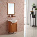 Meuble de salle de bain en 78x30.1x43.5cm avec le miroir, le lavabo, le robinetterie et le siphon de la marque AICA image 2 produit