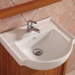 Meuble de salle de bain en 78x30.1x43.5cm avec le miroir, le lavabo, le robinetterie et le siphon de la marque AICA image 3 produit