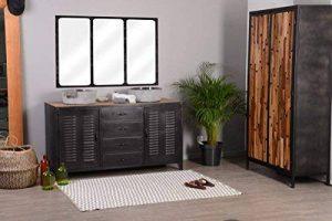 Meuble de salle de bain industriel métal noir 2 vasques Meuble House de la marque Meuble House image 0 produit