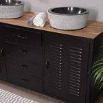 Meuble de salle de bain industriel métal noir 2 vasques Meuble House de la marque Meuble House image 2 produit
