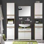 meuble lavabo blanc laque TOP 1 image 4 produit