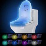 Mise à Niveau De La Lumière De La Toilette Avec 8 Changements De Couleur Différents Conception à Piles Toilette Veilleuse Détecteur De Mouvement Cuvette De Toilette LED Uniquement Parfaitement Activé de la marque Yooap image 3 produit
