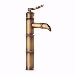 MulFaucet mitigeur robinet Faucet Cuivre antique bambou cascade chute d'eau sortie chaude et froide en céramique valve monotrou mitigeur salle de bain bassin de la marque MulFaucet image 0 produit