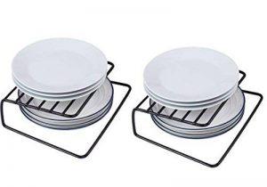 NEUN WELTEN Lot DE 2 Tagre d'angle Porte-Assiettes 26 x 19.5 x 8cm (Noir) de la marque NEUN WELTEN image 0 produit