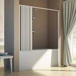 Pare baignoire de douche 160 CM H150 PVC mod. Delfi avec ouverture latérale de la marque Forte image 1 produit