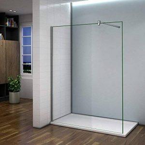 Paroi de douche 140x200cm verre anticalcaire cabine de douche à l'italienne avec barre de fixation 140 cm de la marque AICA image 0 produit