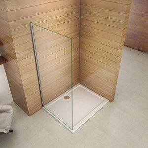 Paroi de douche 90x200cm paroi de douche à l'italienne verre anticalcaire paroi de fixation de la marque AICA image 0 produit