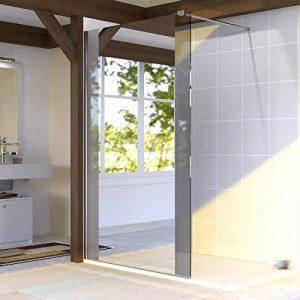 Paroi de douche fixe 8 mm BAYA - 120 cm avec miroir de la marque UneSalleDeBain image 0 produit