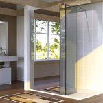 Paroi de douche fixe avec retour 8 mm BAYA - 120+40 cm et miroir de la marque UneSalleDeBain image 1 produit