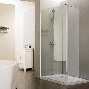 Paroi de douche fixe avec retour 8 mm CALYPSO - 90+40 cm de la marque UneSalleDeBain image 0 produit