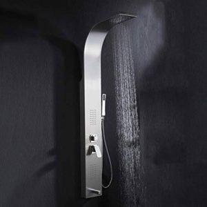 Paroi de Douche Set de Douche avec douchette en Acier Inoxydable Colonne de Douche douchette à Main avec réglage à Chaud et à Froid,B de la marque ZH décoration de salle de bain image 0 produit
