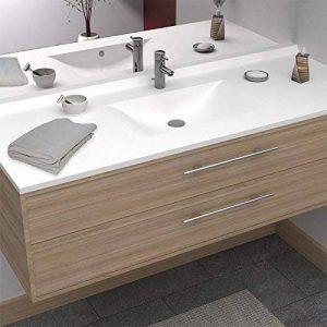 Plan simple vasque centrée RÉSIPLAN - 120 cm de la marque UneSalleDeBain image 0 produit