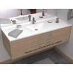 Plan simple vasque centrée RÉSIPLAN - 120 cm de la marque UneSalleDeBain image 1 produit