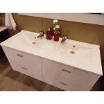 Plan vasque double prof 46 LAGUNE - 120 cm de la marque UneSalleDeBain image 2 produit