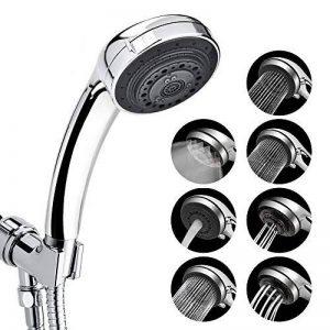 Pomme de douche haute pression 7 spray settings douche à main de salle de bains en acier inoxydable pommeau douche pression (Pomme De Douche) de la marque AUSHEN image 0 produit
