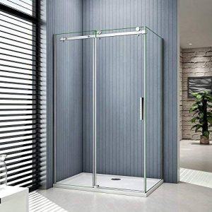 Porte de douche coulissante 120x80x195cm cabine de douche verre anticalcaire paroi de douche de la marque AICA image 0 produit