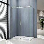 Porte de douche coulissante 120x80x195cm cabine de douche verre anticalcaire paroi de douche de la marque AICA image 1 produit
