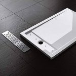 Receveur de douche design ultra plat 4CM bac a douche acrilique Xetro04W 90X120X4 de la marque sogood image 1 produit