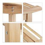 Relaxdays 10020949 Tabouret de salle de bain en bambou banc nature bois compartiment meuble HxlxP: 45 x 66 x 40 cm, nature de la marque Relaxdays image 2 produit