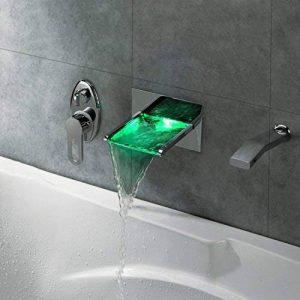 robinet de baignoire cascade conduit avec douchette extractible (support mural) de la marque Good fixture image 0 produit