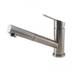 Robinets de cuisine/ Robinet Mizzo Patro - Bec extractible - Rotation 120° - Mitigeur pour lavabo avec douchette - inox brossé de la marque Mizzo Design image 0 produit